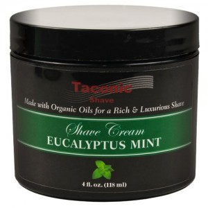 Taconic Shave EUCALYPTUS & MINT Shaving Cream with Organic Oils - 4 oz.