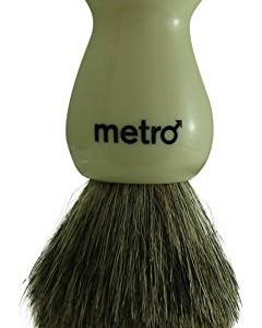 Metro Grooming Products - 100% Pure Badger Shaving Brush - The Metro - Ivory