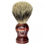Parker Safety Razor 100% Pure Badger Bristle Shaving Brush with Rosewood Handle & Free Stand