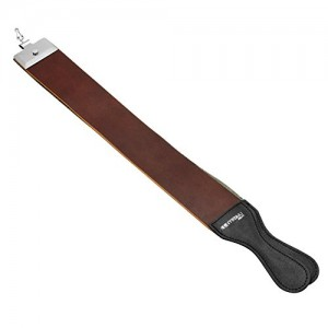 "Razor Strop 2 1/2"" X 23"" Top Grain Barber's Razor Knife Strop Buffalo Hide Dual Straps Swivel Clip Leather Straight Razo"