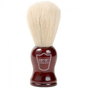 Parker Safety Razor Deluxe 100% Boar Bristle Shaving Brush with Rosewood Handle & Free Shaving Brush Stand