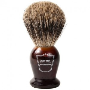 Parker Safety Razor 100% BEST Badger Bristle Shaving Brush with Faux Tortoise Shell Handle & Free Brush Stand