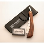 Pure Wood Shaving Razor / Cut Throat Razors / Shavette Razor (coolcut) + Free Blades & Pouch (Wood-r5)