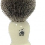 Pure Badger Faux Ivory Shaving Brush with Free Stand From GBS