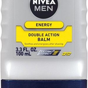 Nivea For Men Q10 Energy Double Action Balm, 3.3 fl. oz. Bottles (Pack of 3)
